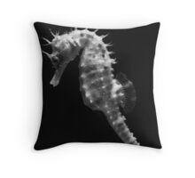 Painterly Seahorse Throw Pillow