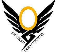 Mercy Overwatch Symbol - Primum non nocere Photographic Print