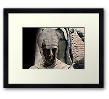 monument, Wicked face Framed Print