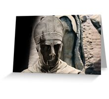 monument, Wicked face Greeting Card