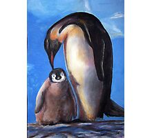 Penguins mother and baby Photographic Print