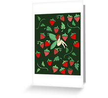 Strawberry Fairy Greeting Card
