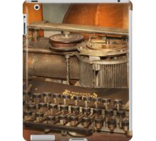 Steampunk - The history of typing iPad Case/Skin