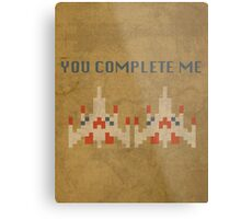 Galaga You Complete Me Metal Print