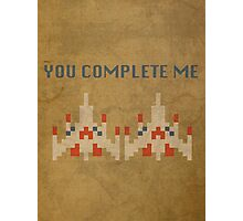 Galaga You Complete Me Photographic Print