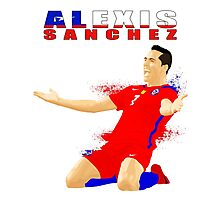 ALEXIS SANCHEZ, CHILE, VECTOR Photographic Print