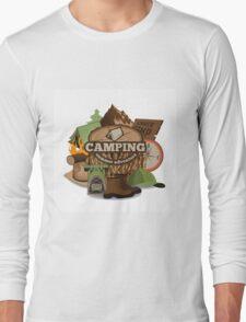 Camping insignia Long Sleeve T-Shirt