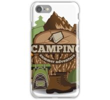 Camping insignia iPhone Case/Skin