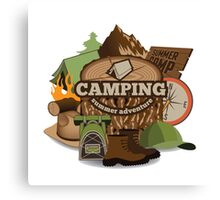 Camping insignia Canvas Print