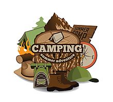 Camping insignia Photographic Print