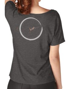 Black Plus On White Women's Relaxed Fit T-Shirt