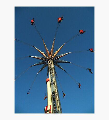 Swinging at Coney Island Photographic Print