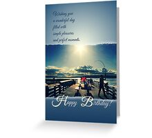 Happy Birthday Card - Evening at the Pier 2 Greeting Card