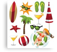 Everything you need for summer fun Canvas Print
