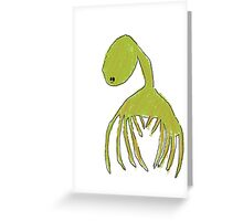 The Green Creature Greeting Card