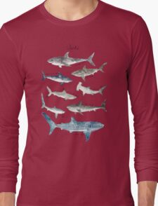 Sharks - Landscape Format Long Sleeve T-Shirt