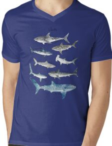 Sharks - Landscape Format Mens V-Neck T-Shirt