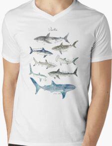 Sharks - Landscape Format Mens V-Neck T-Shirt