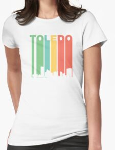 Vintage Toledo Cityscape Womens Fitted T-Shirt