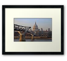 London's Millenium Bridge & St. Pauls Cathedral Framed Print