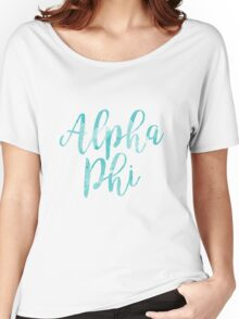 aphi alpha phi sorority sticker greek watercolor Women's Relaxed Fit T-Shirt