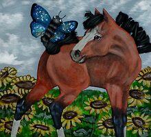 Mixed Media Foal by WildestArt
