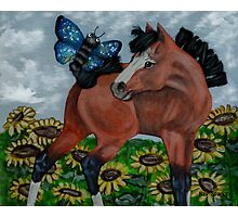 Mixed Media Foal Photographic Print