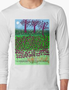 This Chemo Is Good For Your Eyes, by Roger Pickar, Goofy America Long Sleeve T-Shirt