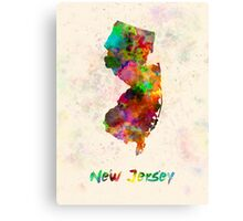 New Jersey US state in watercolor Canvas Print