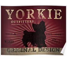 VINTAGE YORKSHIRE TERRIER DOG ORIGINAL ART PRINT Poster