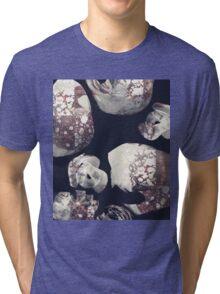 Marbled Patchwork Brush Strokes Tri-blend T-Shirt