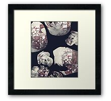 Marbled Patchwork Brush Strokes Framed Print