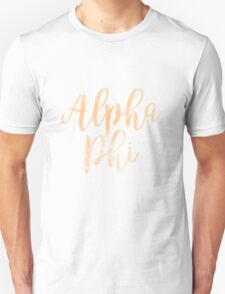 alpha phi aphi sorority sticker greek watercolor laptop Unisex T-Shirt