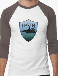 Haven Keep Calm Blue Badge Logo T-Shirt