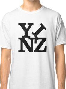 Yinz Black Lettering Classic T-Shirt
