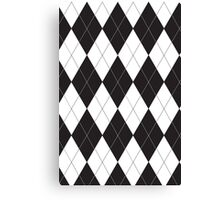 Black and White Argyle Canvas Print