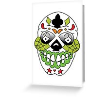 Jesse Pinkman Skull Tattoo Greeting Card