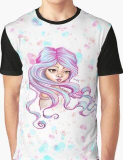 Mermaid Hair Skater Girl Graphic T-Shirt