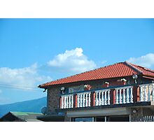 Red Roof Blue Sky Photographic Print