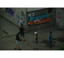 Kids in the street Photographic Print