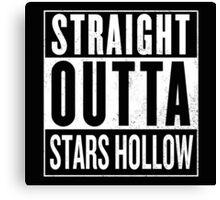 Straight Outta Stars Hollow Canvas Print