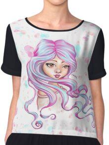Mermaid Hair Skater Girl Chiffon Top