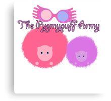 Pygmypuff Army - the Luna diaries Canvas Print