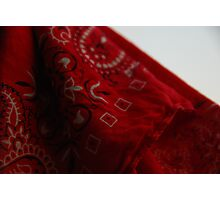 Red Bandana Photographic Print