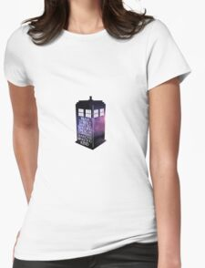 Doctor Who Fear Quote Tardis Womens Fitted T-Shirt