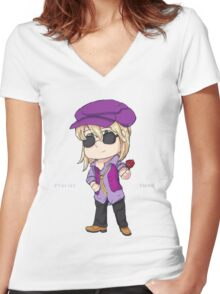 Florist Swagger Women's Fitted V-Neck T-Shirt