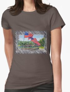 Flag Walk 2 Womens Fitted T-Shirt