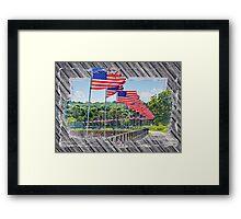 Flag Walk 2 Framed Print