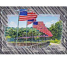 Flag Walk 2 Photographic Print
