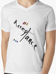 Acceptance - LGBT pride Mens V-Neck T-Shirt